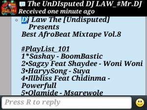 DJ Law Tweet
